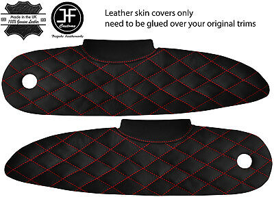 $ CDN231.57 • Buy Red Diamond Stitch 2x Door Card Trim Leather Covers For Lotus Elise S1 96-01