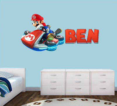 £12.99 • Buy Personalised Super Mario Any Name Wall Decal 3D Art Stickers Vinyl Room Bedroom