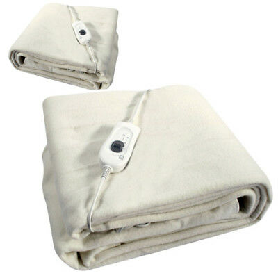 £12.95 • Buy 107cm X 120cm Double Electric Blanket Under Bed Warm Night Washable Heated Fast