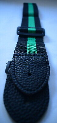 Guitar Strap Classic Green Black Ideal Children Kids UK Small Size Boys Girls • 2.99£