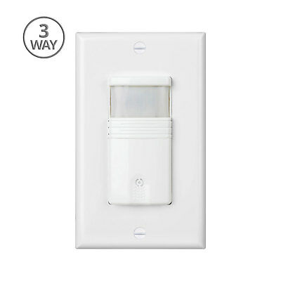 White 3-Way Motion Sensor Light Switch With Adjustable Timer - UL Certified • 20.64$