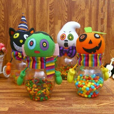 $8.99 • Buy 2 PCS Candy Jar Ghost Pumpkin Bottle Gift Party Room Table Decoration Desk Table