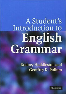£8.49 • Buy A Student's Introduction To English Grammar By Huddleston, Rodney Paperback The