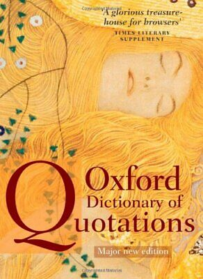Oxford Dictionary Of Quotations Hardback Book The Cheap Fast Free Post • 8.49£