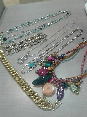 $ CDN61.32 • Buy Jewelry Lot, Signed. 16 Necklaces, 1 Bracelet, FOSSIL, LIA SOPHIA, BANANA REPUBL
