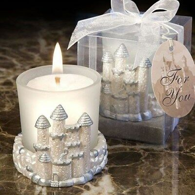 60 Once Upon A Time Fairy Tale Princess Themed Castle Candle Wedding Favors  • 113.18£