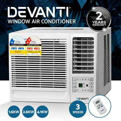 AU209.90 • Buy Devanti Window Air Conditioner Reverse Cycle 1.6 /2.7/4.1KW Wall Box Cooler Heat
