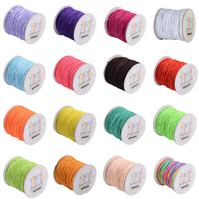 $ CDN12.04 • Buy 1 Roll 2mm Nylon Outside And Rubber Inside Round Elastic Cord 40m/roll Crafts