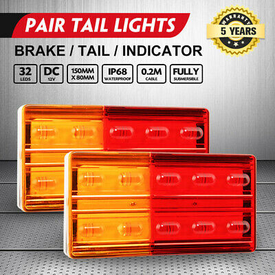 AU23.95 • Buy 2x LED Trailer Tail Lights Stop Indicator Lamp 12V Truck UTE Submersible