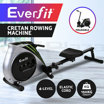 View Details Everfit Rowing Exercise Machine Rower Resistance Fitness Home Gym Cardio • 154.00AU