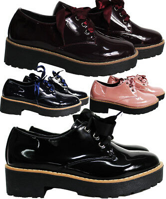 £5 • Buy Womens Ladies Flat Platform Wedges Lace Up Goth Punk Creepers Shoes Boots Sizes