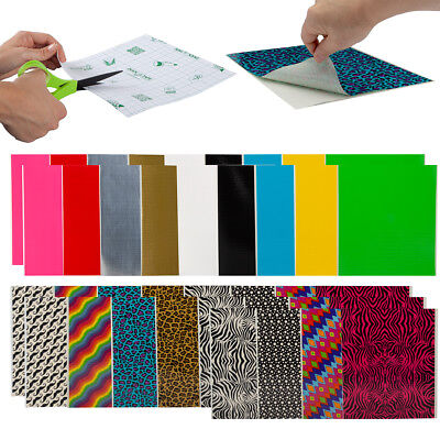 $13.99 • Buy 30ct Assorted Duct Tape Duck Tape Sheets Variety Pack Designs, Solid Bulk Colors