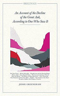 £6.99 • Buy An Account Of The Decline Of The Great Auk, According T... By Greengrass, Jessie