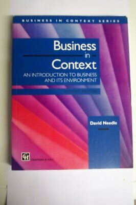 Business In Context: An Introduction To Business A... By Needle, David Paperback • 4.49£