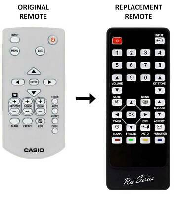 RM-Series® Replacement Remote Control For Casio XJ-UT310WN Lamp Free Projector • 9.95£