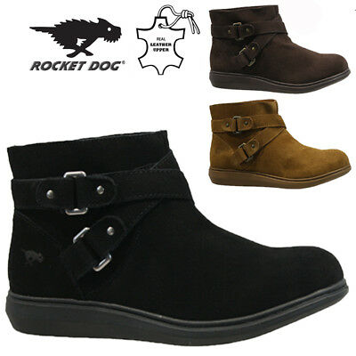 Rocket Dog Ladies Leather Winter Snow Warm Walking Hiking Ankle Boots Shoes Size • 19.95£