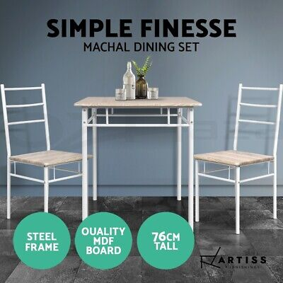 AU94.95 • Buy Artiss Dining Table And Chairs Dining Set Retro Industrial Wooden Desk Metal Oak