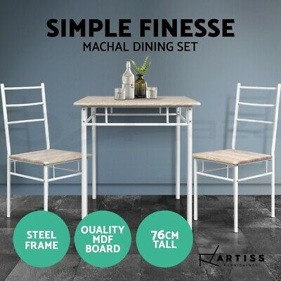 AU112.95 • Buy Artiss Dining Table And Chairs Dining Set Retro Industrial Wooden Desk Metal Oak