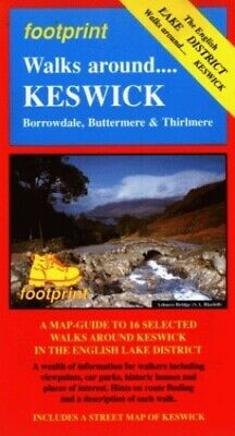 Walks Around Keswick: Map/Guide By Footprint Sheet Map, Folded Book The Fast • 10.16£
