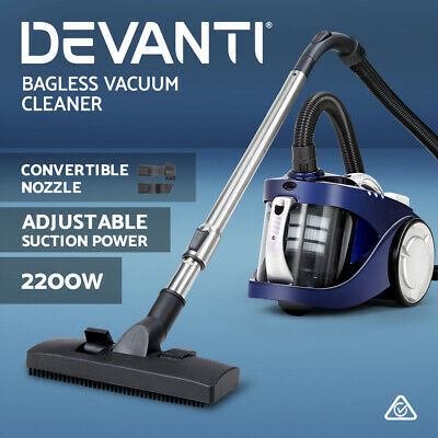 AU84.90 • Buy Devanti Bagless Vacuum Cleaner Cyclone Cyclonic Car Vac Home Office 2200W Blue