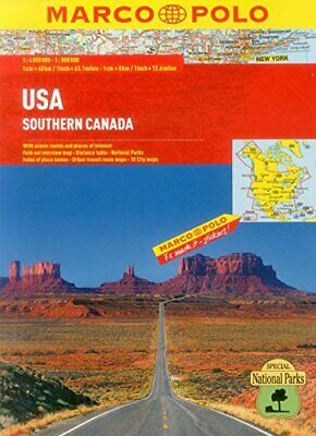 £5.49 • Buy USA Atlas (Marco Polo Road Atlas) By Marco Polo Book The Cheap Fast Free Post