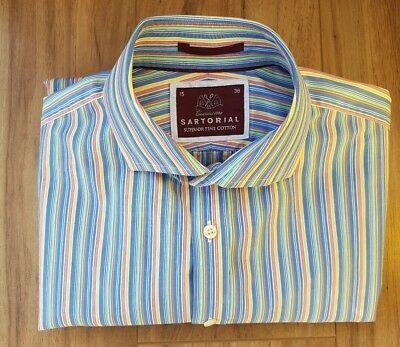 M&S Sartorial Shirt. Collar Size 15. Excellent Condition - Only Worn A Few Times • 12.99£