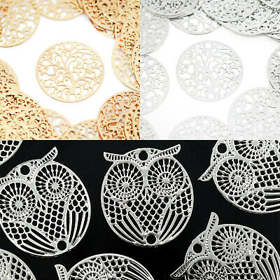 £2.90 • Buy 5 X Filigree Silver / Gold Plated Brass Tree / Owl Connectors