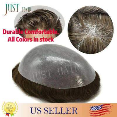 £165.84 • Buy Mens Hair Replacement System All Poly Skin Men Toupee Hairpieces Human Hair Wigs