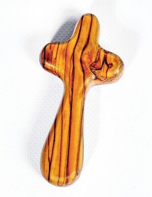 Olive Wood Holding/Caring/Comfort/Praying Cross ,Hand Made In Jerusalem City • 5.79£