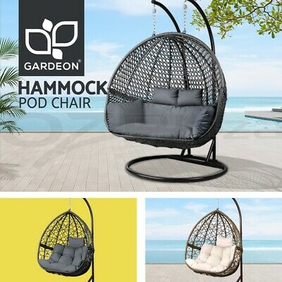 AU512.95 • Buy Gardeon Outdoor Furniture Lounge Swing Chair Egg Hammock Wicker 2 Person Stand