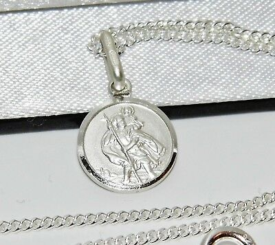Sterling Silver St Christopher Pendant ~ 925 Silver ~ Choice Of Chain / Necklace • 7.95£