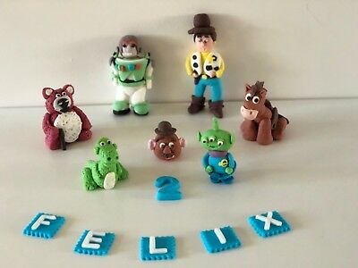 Toy Story Unofficial Woody Buzz Lightyear Personalised Handmade Cake Topper  • 6.90£