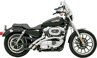 $499.95 • Buy Bassani Radial Sweepers Chrome Exhaust 04-06 Harley Sportster XL 883 1200 Low