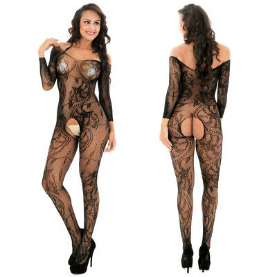 $8.98 • Buy Romantic Fishnet Mesh Body Stocking Bodysuit Nightwear Lingerie Dress Style 606