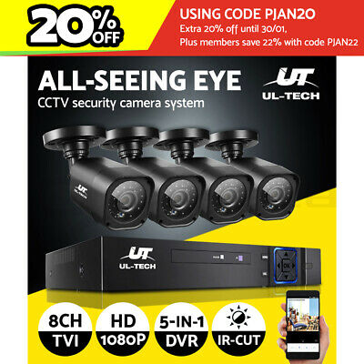 AU149.90 • Buy UL-tech Home CCTV Camera Security System 8CH DVR 1080P Outdoor Long Range Kit