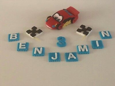 Lightning McQueen Unofficial Cars Cake Topper Personalised Handmade Animated • 7.50£