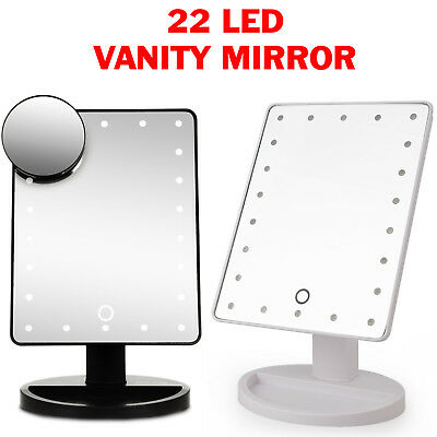 22 Led 5x Magnifying Touch Screen Light Make-up Cosmetic Tabletop Vanity Mirror • 10.95£