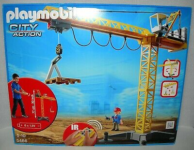 £99.99 • Buy Playmobil 5466 City Action Infra-Red Remote Large Construction Crane - NIDB