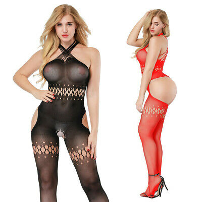 $9.66 • Buy Women's Sexy Lace Lingerie Fishnet Body Stockings Bodysuit Underwear 8511
