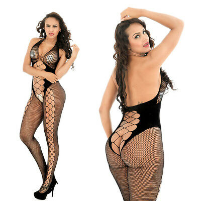 $8.69 • Buy Fashion Women Sexy Lingerie Fishnet Body Stockings Underwear Sleepwear 8961