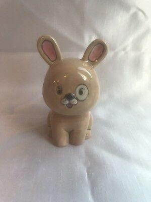 £11 • Buy Hand Painted/signed Kiln Fired Ceramic Cute Bunny