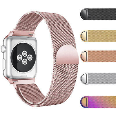 AU10.99 • Buy Milanese Magnetic Stainless Steel Strap Band For Apple Watch Series 4 / 3 /2 /1