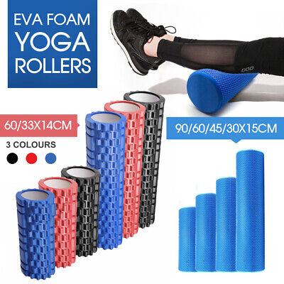 AU23.79 • Buy Foam Roller Yoga Grid Trigger Point Massage Pilates Physio Gym Exercise EVA PVC