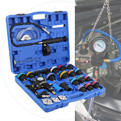 $85.99 • Buy 28pc Radiator Pressure Tester Test Kit Coolant Vacuum Purge Refill With Adapters