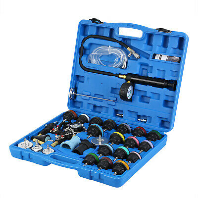 $81.81 • Buy 28pc Radiator Pressure Tester Test Kit With Coolant  Vacuum Purge/Refill Adapter