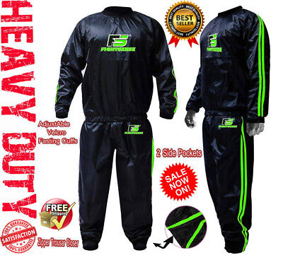 AU33.90 • Buy Sauna Sweat TRACK Suit For WEIGHT LOSS Men Women MMA BOXING Body SHAPER Workout