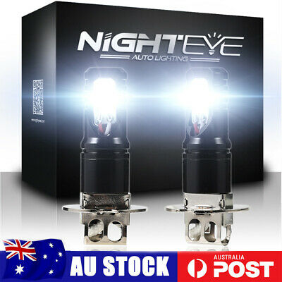 AU29.99 • Buy NIGHTEYE H3 LED Fog Light Bulb Replace Halogen Lamp White 6500K 160W 1600LM/SET