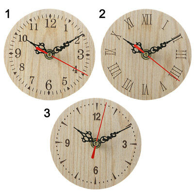 AU10.94 • Buy 12cm Small Wooden Wall Clock Vintage Chic Kitchen Office Living Room Decor