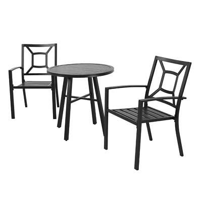 $79.99 • Buy Patio Garden Outdoor Dining Chairs Set Of 3 All Weather Iron Metal Yard Chairs