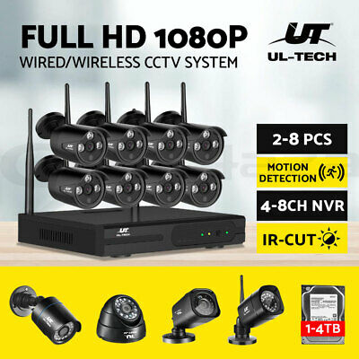 AU265 • Buy UL-tech CCTV Camera Security System Wireless Home 1080P WIFI 8CH DVR Outdoor IP